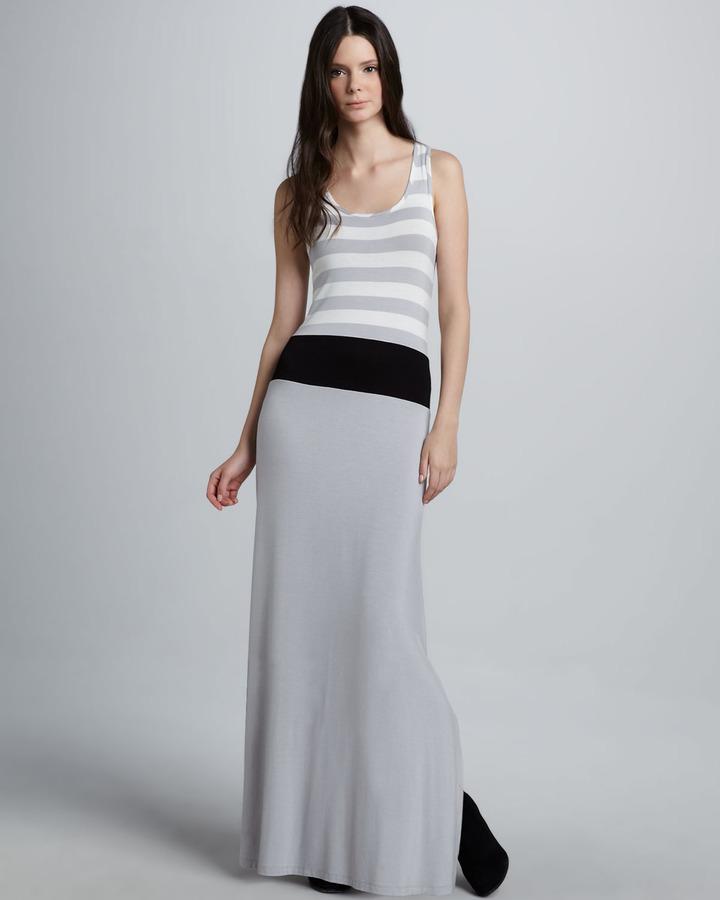Design History Striped Sleeveless Maxi Dress