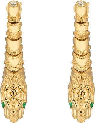 Dionysus yellow gold earrings