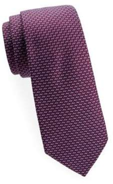 Saks Fifth Avenue Two-Tone Diagonal Woven Silk Tie
