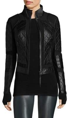 Blanc Noir Leather Moto Jacket