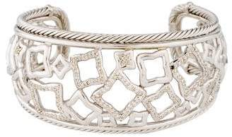 David Yurman Diamond Quatrefoil Cuff