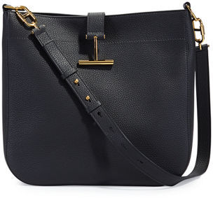 TOM FORD Grained Leather Tara Hobo Bag $1,990 thestylecure.com