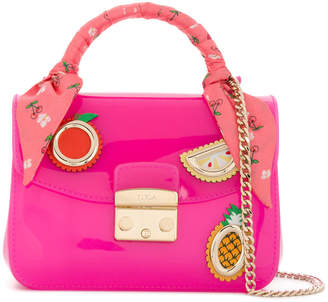 Furla appliquéd Candy shoulder bag