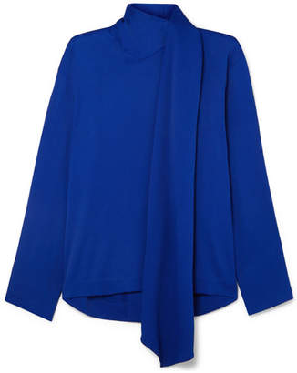 Joseph Cannon Tie-neck Cady Blouse - Bright blue