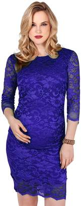 KRISP Maternity Bodycon Dress ,[9082-CRM-S]