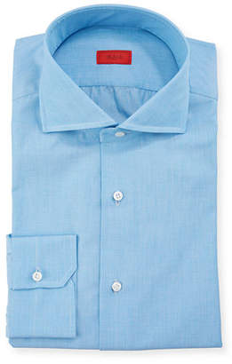 Isaia Men's Solid 2-Ply Cotton Twill Dress Shirt