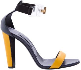 Vionnet Navy Leather Sandals