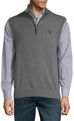 U.S. Polo Assn. USPA Mens Mock Neck Sweater Vest