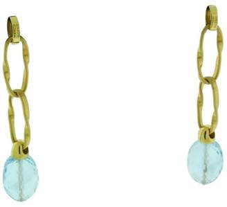 Marco Bicego 18K Yellow Gold Blue Topaz Dagle Earrings