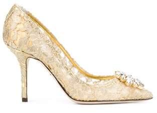 Dolce & Gabbana Dolce E Gabbana Women's Cd0101ae63780997 Gold Leather Pumps