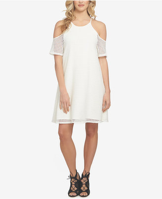 1.state Perforated Cold-Shoulder Dress $99 thestylecure.com