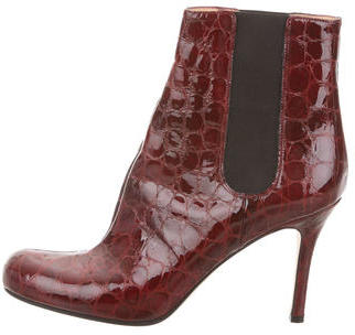 Kate SpadeKate Spade New York Embossed Round-Toe Ankle Boots