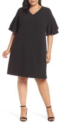 ECI Ruffle Sleeve Shift Dress