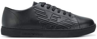 Emporio Armani embossed sneakers