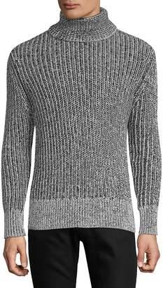 J. Lindeberg Men's Turtleneck Ribbed Cotton Sweater
