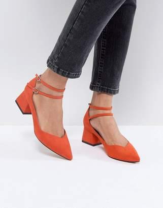 Asos Design SINCERE Pointed Block Mid Heels