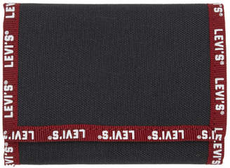 Levi's Levis Black and Red Logo Wallet