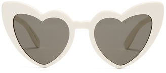 Loulou heart-frame acetate sunglasses