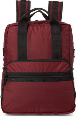 Le Sport Sac Dark Red Backpack Diaper Bag