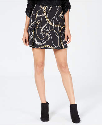 GUESS Perla Printed Safety-Pin Skirt