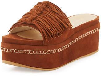 Stuart Weitzman Wiggleroom Fringe Platform Sandal $440 thestylecure.com