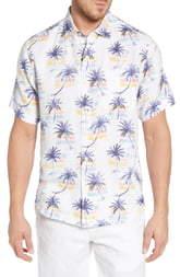 Tommy Bahama Sunset Palm Print Linen Shirt