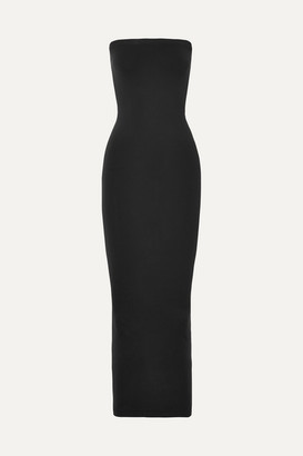 Fatal Strapless Stretch-jersey Maxi Dress - Black