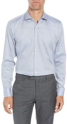 Ted Baker Coorm Trim Fit Geometric Dress Shirt