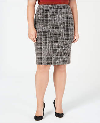16134f078e2 Plus Size Tweed Skirt - ShopStyle