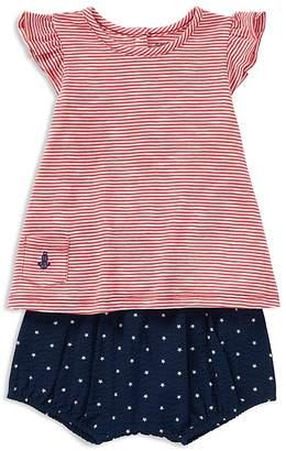Ralph Lauren Girls' Striped Jersey Tee & Star-Print Seersucker Bloomers Set - Baby