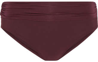 Heidi Klein Body Ruched Fold-over Bikini Briefs - Burgundy