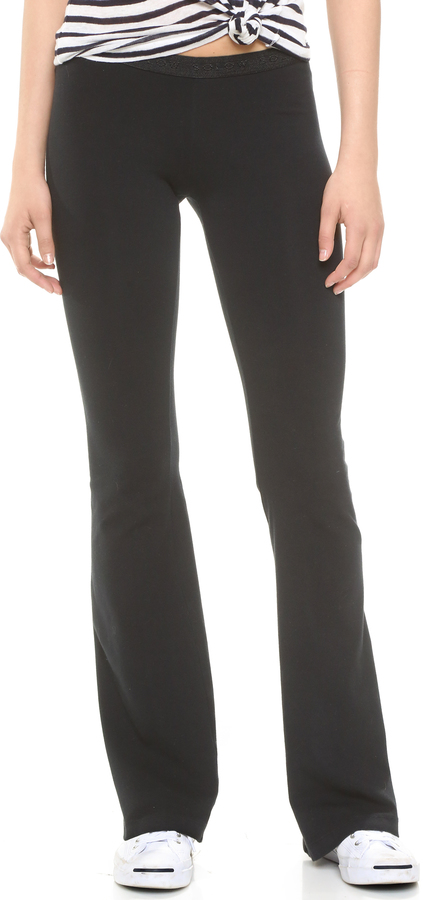So Low SOLOW Solid Foxy Flare Pants
