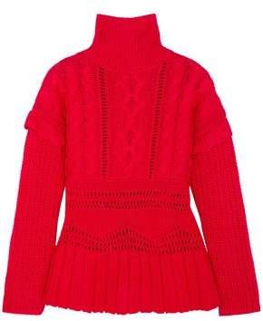 Altuzarra Prelude Cable-knit Wool Turtleneck Sweater