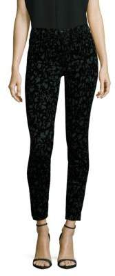 J Brand Printed Mid-Rise Jeans/Olive