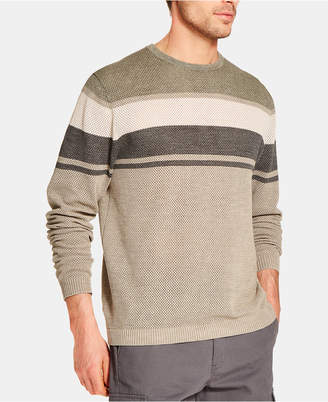 Weatherproof Vintage Men Striped Stonewashed Sweater