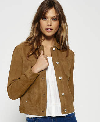 956b17dba154c Showing 589 womens brown leather jacket. at Superdry · Superdry Suede  Billie Bomber Jacket