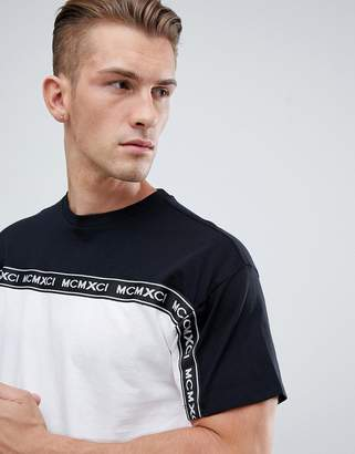 New Look T-Shirt With Tape Detail in Black