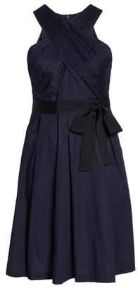 1901 Cross Front A-Line Dress
