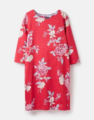 Joules Pink Chinoise 206925 Printed Jersey Dress Size 8
