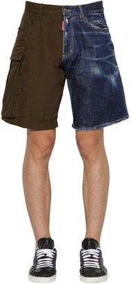 DSQUARED2 Rip Stop Cotton & Denim Boxer Shorts