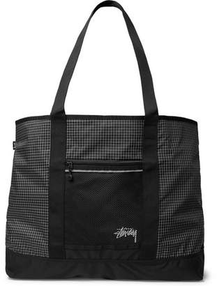Stussy Checked Ripstop-Shell Tote Bag