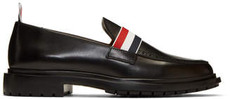 Thom Browne Black Tricolor Band Loafers