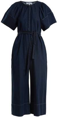 Apiece Apart Soleil waist-tie cotton-chambray jumpsuit