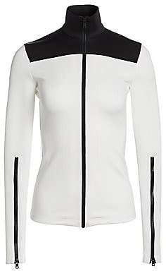 Proenza Schouler White Label Women's Colorblock Cotton Zipper Track Top