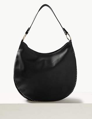 M&S Collection Studded Hobo Bag