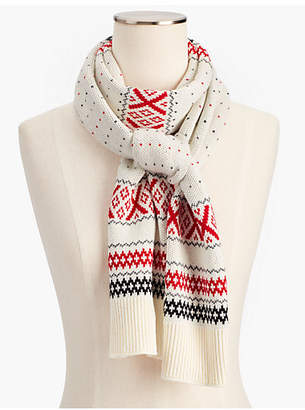 Talbots Fair Isle Winter Scarf