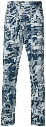 Vivienne Westwood distressed tartan trousers