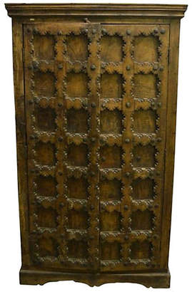 One Kings Lane Vintage Antique Indian Hand-Carved Wood Cabinet - FEA Home