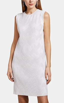 Givenchy Women's Wave-Pattern Plissé Sleeveless Dress - Cream