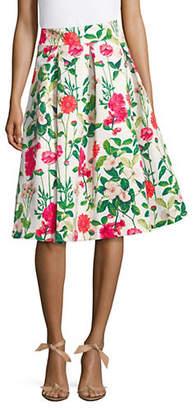 Eliza J Floral Knee-Length Skirt